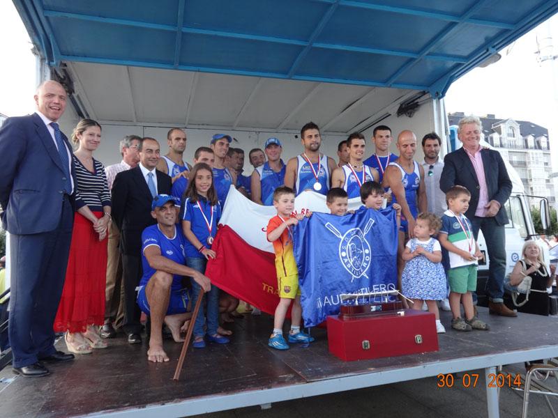 L Campeonato Regional de Trainera, 30 de julio de 2014, Bahía de Santander.