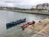 XVI Bandera Ayuntamiento de Sestao, segunda regata de la Liga Eusko Label, celebrada en Portugalete el 2 de julio de 2017.