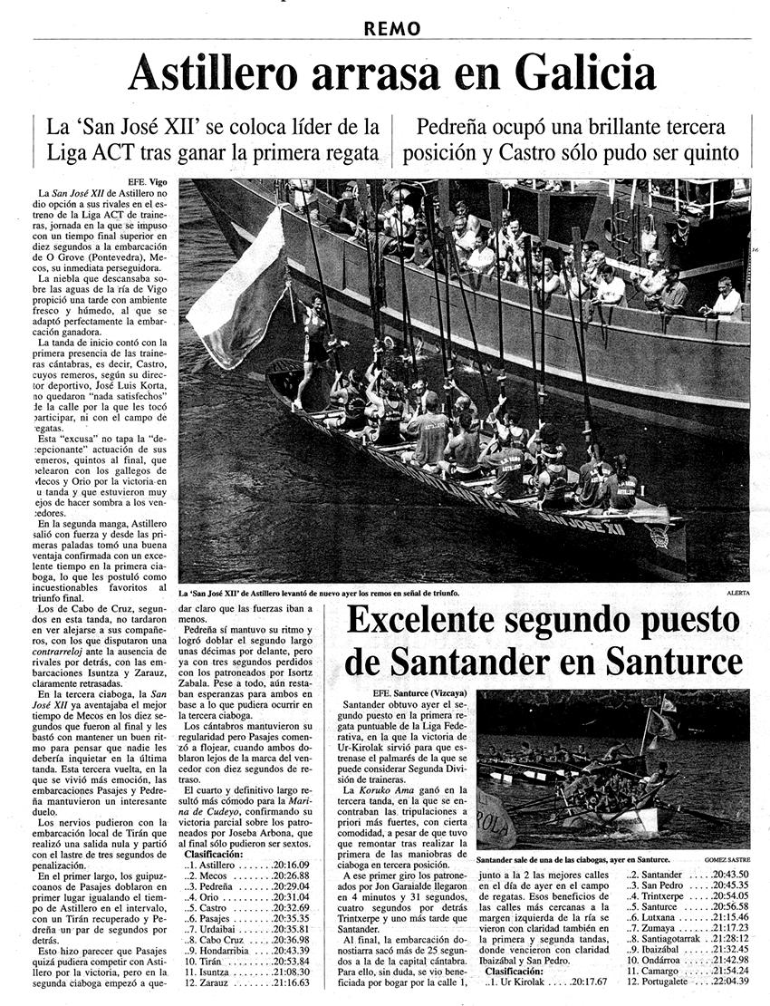 Domingo, 13 de julio de 2003. Diario Alerta.
