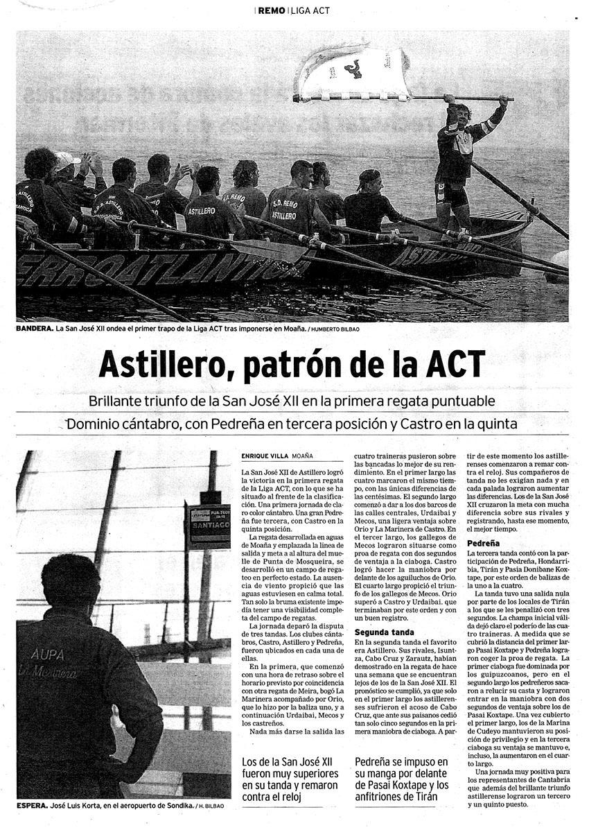 Domingo, 13 de julio de 2003. El Diario Montañés