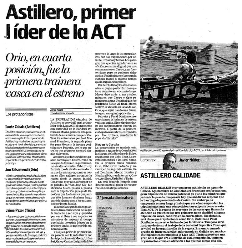 Domingo, 13 de julio de 2003. Diario DEIA.