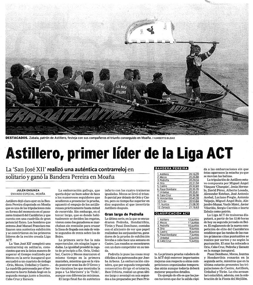 Domingo, 13 de julio de 2003. Diario El Correo.